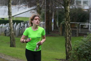 Eadaoin at the Irish Colleges Campus Sprint Series UCD, Feb. 2016