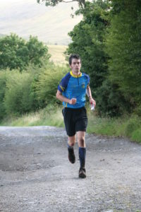 Laurence on last leg of Wicklow Way Relay 2015.
