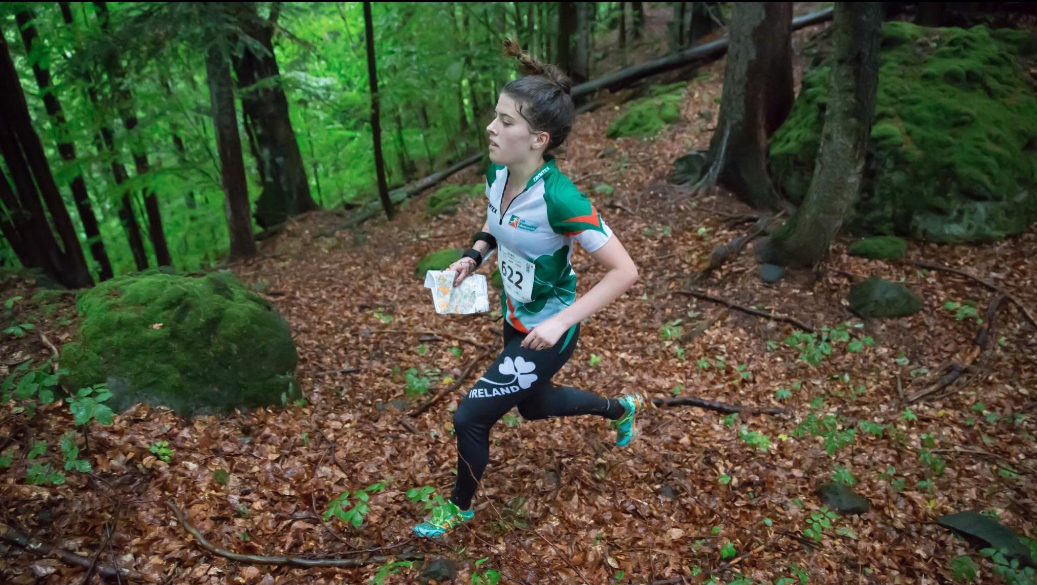 Eadaoin McC. running in EYOC in Slovakia.